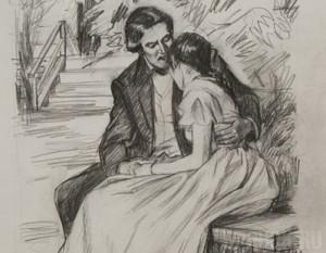 вышла замуж иллюстрации к тургеневу свидание работы французских